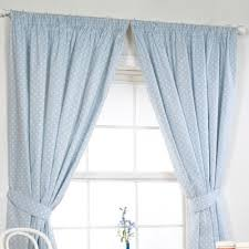 Pale Blue Curtains Polka Lined Curtains In Blue With Matching Accessories Room