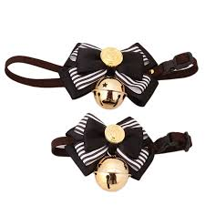bells 2 size cat pet collar bow tie collars with bell