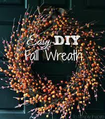 autumn wreath easy diy fall wreath