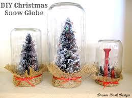 diy christmas snow globe anthropologie knock off use burlap