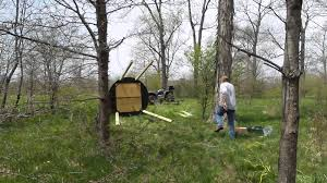 erecting a blind turtle deer stand youtube