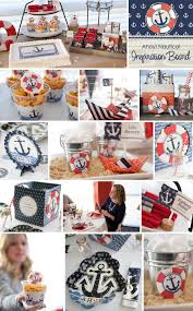 nautical party supplies ahoy natucal party ideas diy party supplies and custom party