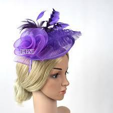 hair fascinator purple fascinator hats fascinator sinamay base wedding hats and