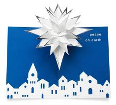 holiday pop up cards u201cvillage star u201d 3d christmas cards