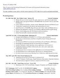 Resume Technician Maintenance Network Technician Sample Resume Network Technician Resume Sample
