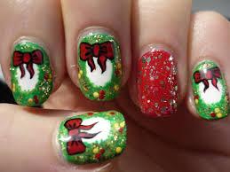 christmas wreath nails holiday nail art youtube