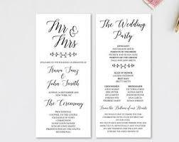 gold wedding program template wedding program sign wedding