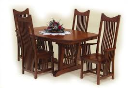 mission style dining room set amish royal mission dining room set intended for house