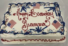 patriotic birthday cake lynn sandy u0027s bakery