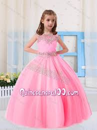 beautiful ball gowns scoop short sleeves little pageant dress