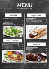customizable menu templates free menu maker it s easy postermywall