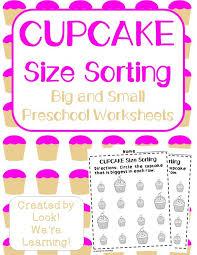 preschool worksheets big and small worksheets for preschool