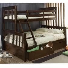 Bunk Bed Twin Full Espresso Marina Single Storage Drawers - Espresso bunk bed