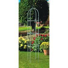 garden obelisk trellis metal home outdoor decoration