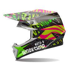 custom motocross helmet wraps motion mx helmet wrap workshop graphics