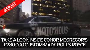 customized rolls royce see inside conor mcgregor u0027s 280 000 custom made rolls royce as
