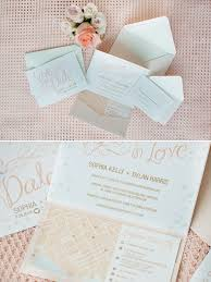Mint Wedding Invitations Romantic Mint Peach And Gold Wedding Ideas