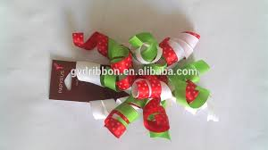 christmas wrapping bow christmas printed grosgrain curly ribbon fabric present bow woven