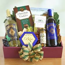 wine and chocolate gift basket coppola vineyard taste of california wine gift basket california