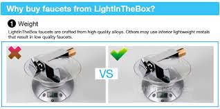 Lightinthebox Faucet Reviews Bathroom Sink Faucet Single Handle Faucet Color Changing Led