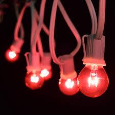 white string lights white cord 50 commercial pink globe light strand c9 white cord