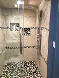 fair river rock bathroom tile in ideas awesome sliced pebble tile
