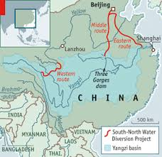 rivers in china map all dried up water