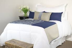 bed scarves and matching pillows blue grey khaki modern bedding set bed scarf and 3 rectangle