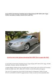 calaméo lexus es350 gsv40 series workshop service repair manual 2