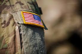 Uniform Flag Patch Usa Flag And Us Army Patch On Solder U0027s Uniform Veterans Hca