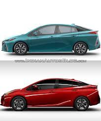 Toyota Prius Prime Side Vs 2016 Toyota Prius Side Indian Autos Blog