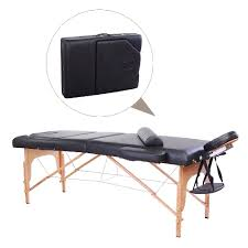 soozier 91inches portable massage table 4inch thickened pad