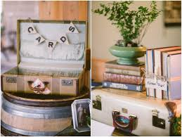 Wedding Table Decorations Ideas Using Vintage Suitcases In Your Rustic Wedding Rustic Wedding Chic