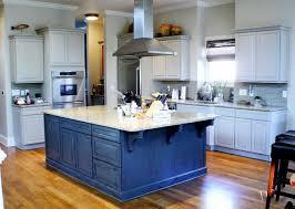 Blue Painted Kitchen Cabinets Kristen F Davis Designs Recently Painted Kitchen Cabinets