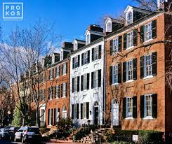 o street colonial rowhouses georgetown ii fine art photo by