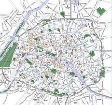 Paris France On A Map by Download The Map Of Paris France Major Tourist Attractions Maps