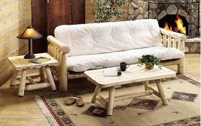 amazon com rustic cedar futon log kitchen u0026 dining