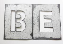 Home Decor Letters Metal Metal Letter Stencil Zinc Steel Initial Home Room Decor Diy