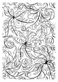 leaves flowers and vegetation coloring pages for adults