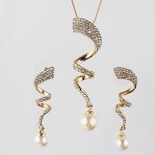 set of gold free shipping women jewelry sets fashion new gold color austrian