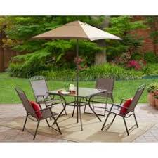 Steel Patio Furniture Sets by Outside Folding Dining Set Garden Deck Patio Furniture Red Chairs
