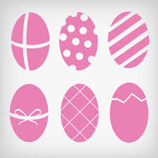 pink easter eggs flat pink easter egg vector design 01