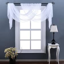 amazon com nicetown sheer curtains 63 long rod pocket