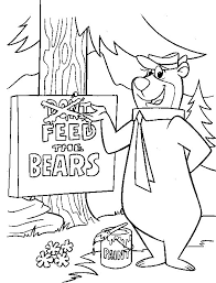 kids fun 20 coloring pages yogi bear