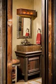 Rustic Cabin Bathroom Ideas - rustic cabin in swan valley made mainly of wood and stone