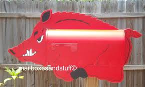 gifts for razorback fans razorback hog mailbox great gift idea for arkansas razorback fans