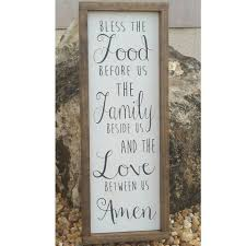 Shabby Chic Kitchens by Bless The Food Before Us Sign Wood Sign Dining Room Sign
