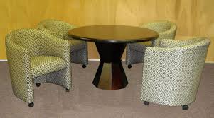 dining table with caster chairs club chairs with casters astounding alfa dinettes chromcraft like