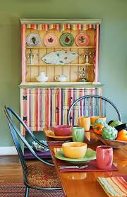 dinning rooms colorful dining room with colorful china cabinet