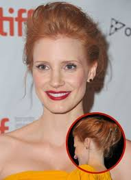 fashion forward hair up do jessica chastain s teased updo popsugar beauty